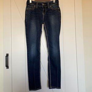 Silver Suki Skinny jeans dark wash sz 27